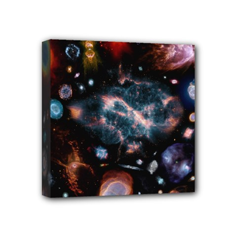 Galaxy Nebula Mini Canvas 4  X 4  by Celenk