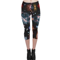 Galaxy Nebula Capri Leggings
