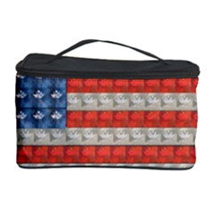 Geometricus Usa Flag Cosmetic Storage Case by Celenk