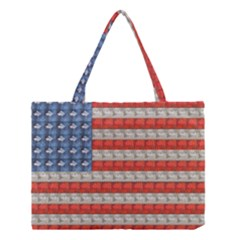 Geometricus Usa Flag Medium Tote Bag by Celenk