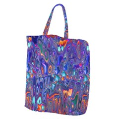 Melted Fractal 1b Giant Grocery Zipper Tote by MoreColorsinLife