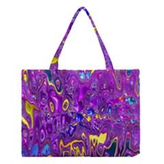 Melted Fractal 1a Medium Tote Bag by MoreColorsinLife