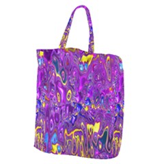 Melted Fractal 1a Giant Grocery Zipper Tote by MoreColorsinLife