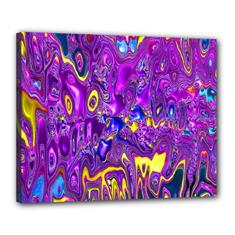 Melted Fractal 1a Canvas 20  X 16  by MoreColorsinLife