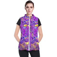 Melted Fractal 1a Women s Puffer Vest