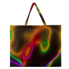 Vibrant Fantasy 4 Zipper Large Tote Bag by MoreColorsinLife