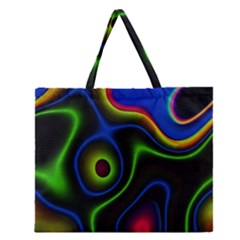 Vibrant Fantasy 6 Zipper Large Tote Bag by MoreColorsinLife
