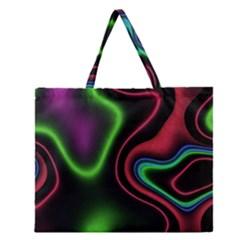 Vibrant Fantasy 2 Zipper Large Tote Bag by MoreColorsinLife