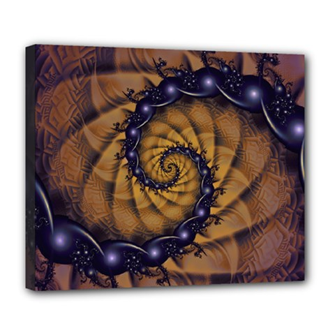 An Emperor Scorpion s 1001 Fractal Spiral Stingers Deluxe Canvas 24  X 20   by jayaprime