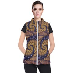 An Emperor Scorpion s 1001 Fractal Spiral Stingers Women s Puffer Vest