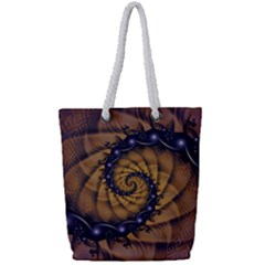 An Emperor Scorpion s 1001 Fractal Spiral Stingers Full Print Rope Handle Bag (small)