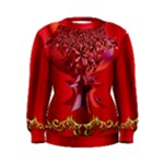 Hearts and Lace in red womens pull over sweatshirt - Women s Sweatshirt