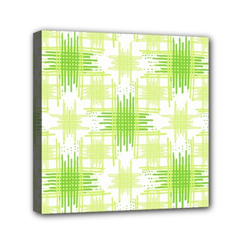 Intersecting Lines Pattern Mini Canvas 6  X 6  by dflcprints