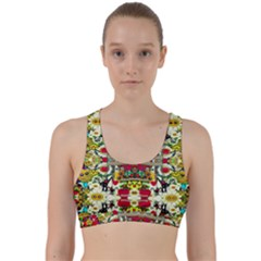 Chicken Monkeys Smile In The Floral Nature Looking Hot Back Weave Sports Bra
