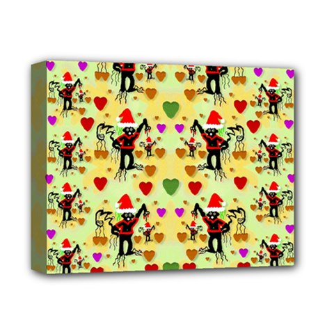 Santa With Friends And Season Love Deluxe Canvas 14  X 11  by pepitasart
