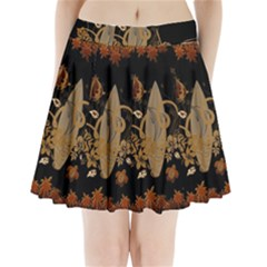 Hawaiian, Tropical Design With Surfboard Pleated Mini Skirt by FantasyWorld7