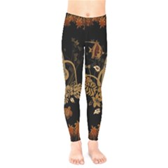 Hawaiian, Tropical Design With Surfboard Kids  Legging by FantasyWorld7