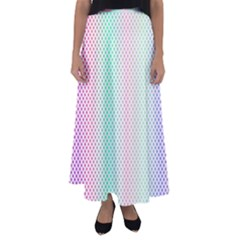 Pattern Flared Maxi Skirt