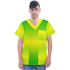 Pattern Men s V Neck Scrub Top