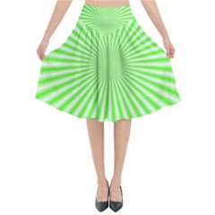 Pattern Flared Midi Skirt by gasi