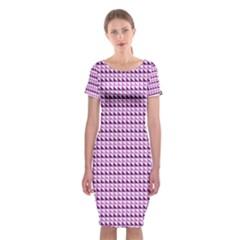 Pattern Classic Short Sleeve Midi Dress by gasi