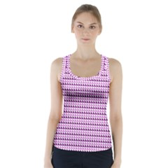 Pattern Racer Back Sports Top by gasi