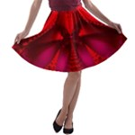 reds over red a-line skater skirt