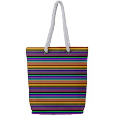 Pattern Full Print Rope Handle Bag (small) by gasi
