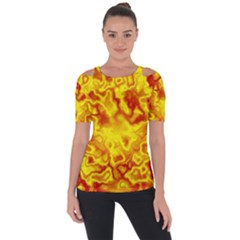 Pattern Short Sleeve Top by gasi
