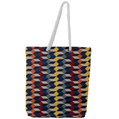 Native American Pattern 3 Full Print Rope Handle Tote (large)