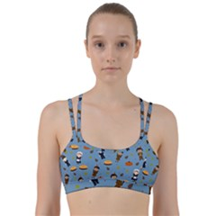 Pilgrims And Indians Pattern   Thanksgiving Line Them Up Sports Bra