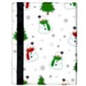 Snowman pattern Apple iPad Mini Flip Case View3