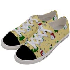 Snowman Pattern Women s Low Top Canvas Sneakers by Valentinaart
