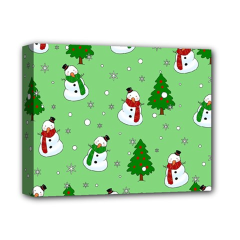 Snowman Pattern Deluxe Canvas 14  X 11  by Valentinaart