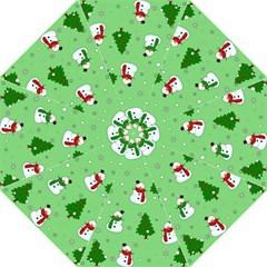 Snowman Pattern Golf Umbrellas by Valentinaart