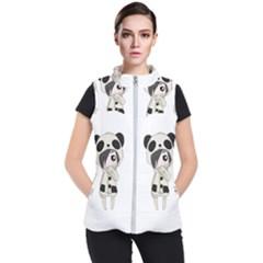 Kawaii Panda Girl Women s Puffer Vest by Valentinaart