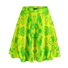 Pattern High Waist Skirt by gasi