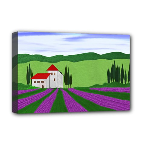 Lavender Deluxe Canvas 18  X 12   by gasi