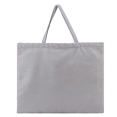 Grey And White Simulated Carbon Fiber Zipper Large Tote Bag by PodArtist