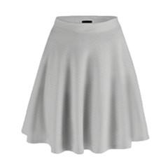 Grey And White Simulated Carbon Fiber High Waist Skirt