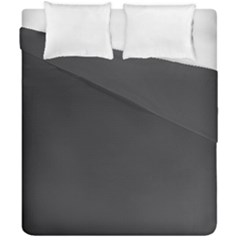 Black Carbon Fiber Duvet Cover Double Side (california King Size) by PodArtist