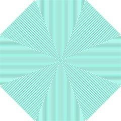 Classy Tiffany Aqua Blue Sailor Stripes Hook Handle Umbrellas (small) by PodArtist
