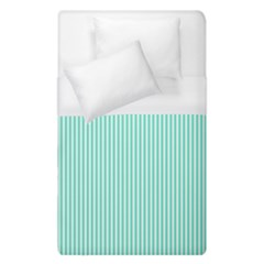Classy Tiffany Aqua Blue Sailor Stripes Duvet Cover (single Size) by PodArtist