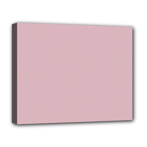 Baby Pink Stitched And Quilted Pattern Deluxe Canvas 20  X 16   by PodArtist