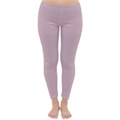 Baby Pink Stitched And Quilted Pattern Classic Winter Leggings by PodArtist