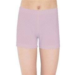 Baby Pink Stitched And Quilted Pattern Kids Sports Shorts by PodArtist