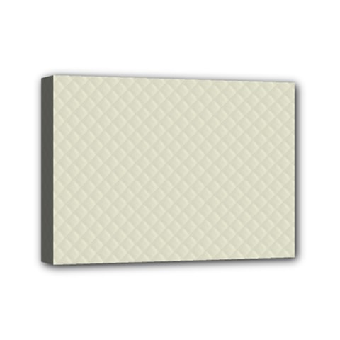 Rich Cream Stitched And Quilted Pattern Mini Canvas 7  X 5  by PodArtist