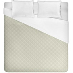 Rich Cream Stitched And Quilted Pattern Duvet Cover (king Size) by PodArtist