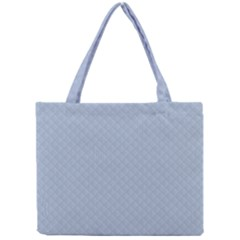 Powder Blue Stitched And Quilted Pattern Mini Tote Bag by PodArtist