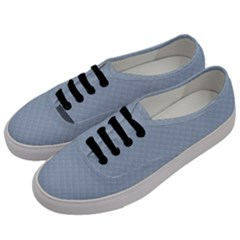 Powder Blue Stitched And Quilted Pattern Men s Classic Low Top Sneakers by PodArtist